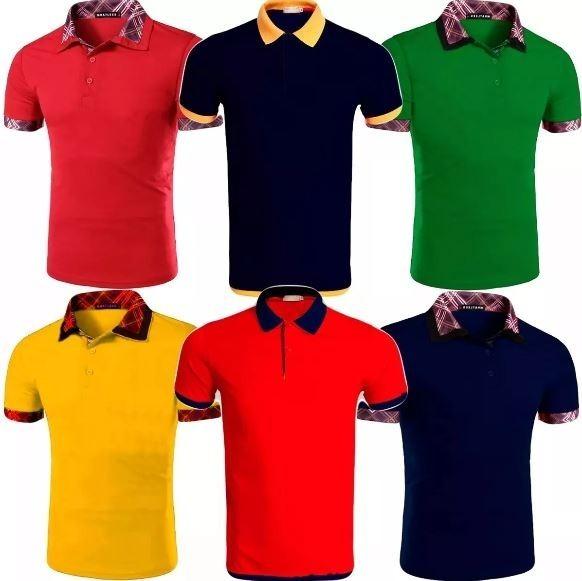 ... Atacado Revenda 38a40c59bf7720  Kit 10 Camisas Polo Masculina Camiseta  Blusa De Luxo Ataca - R 189 . 6835f0f1cd071