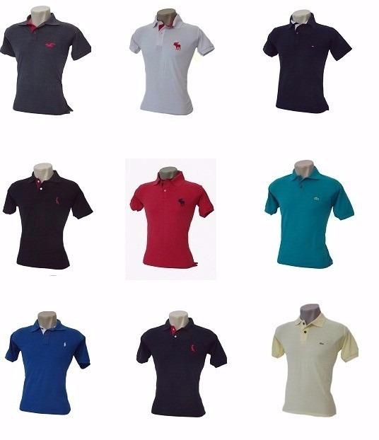 174f7e857 Kit 10 Camisas Polo Masculina Frete Grátis - R  179