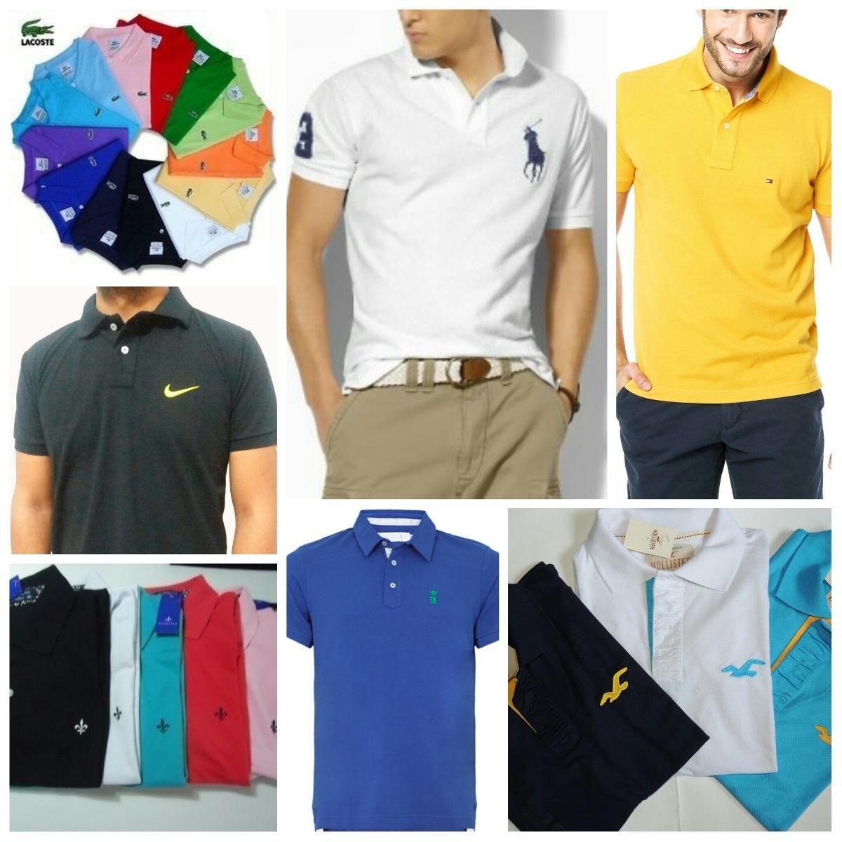 Kit 10 Camisas Polo Masculino Varias Marcas Top Promoção!!! - R  213 ... 0d90e8dcb0dd3