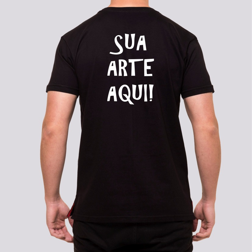 33b620175 kit 10 camisas pretas personalizadas em silk frente e costas. Carregando  zoom.