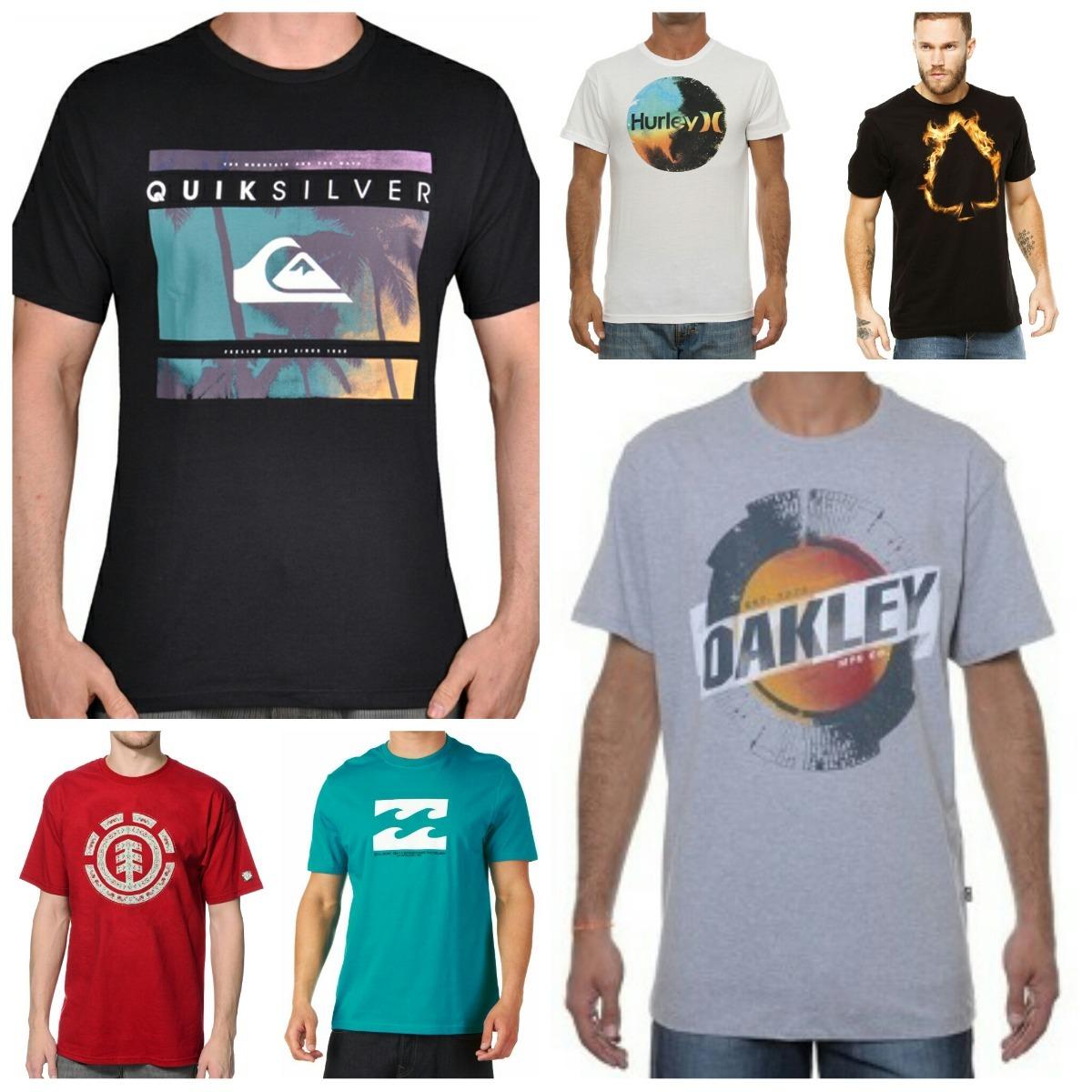 Kit 10 Camisas Surf Masculinas Varias Marcas Promoção!!! - R  194,90 ... 058e914e83