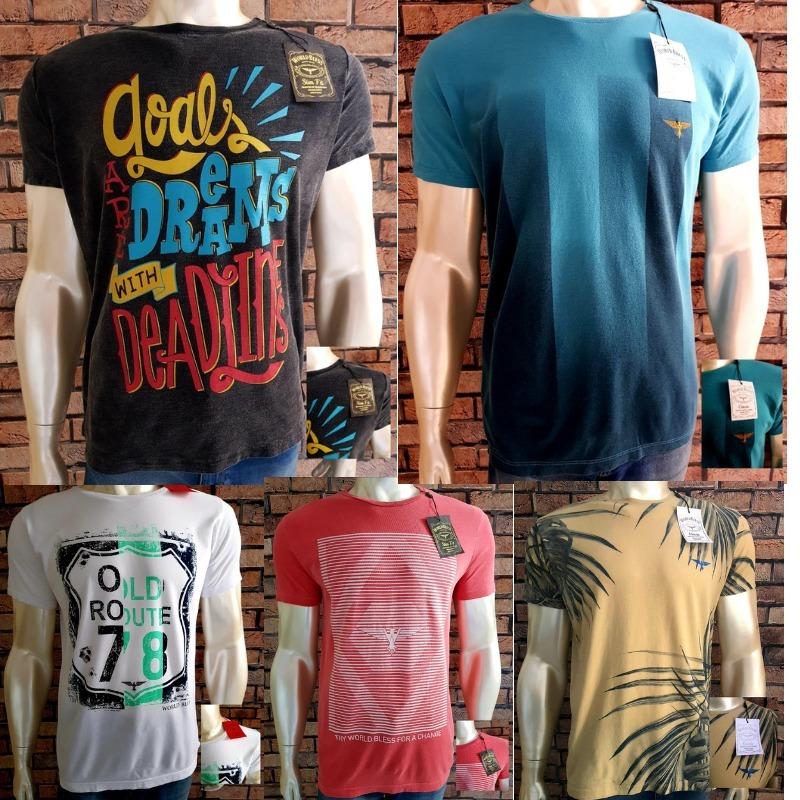98256f019e Kit 10 Camisas Wb Masculinas Camisetas Atacado Originais - R  300