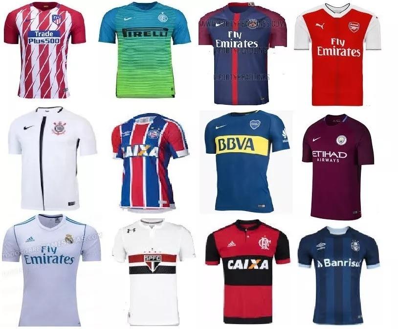 kit 10 camisastimes futebol nacionais e internacionais. Carregando zoom. d6a78af092c51
