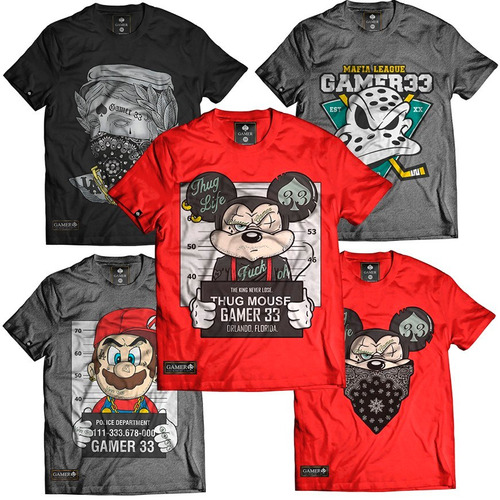 kit 10 camiseta camisa atacado rap thug king fret gratis top