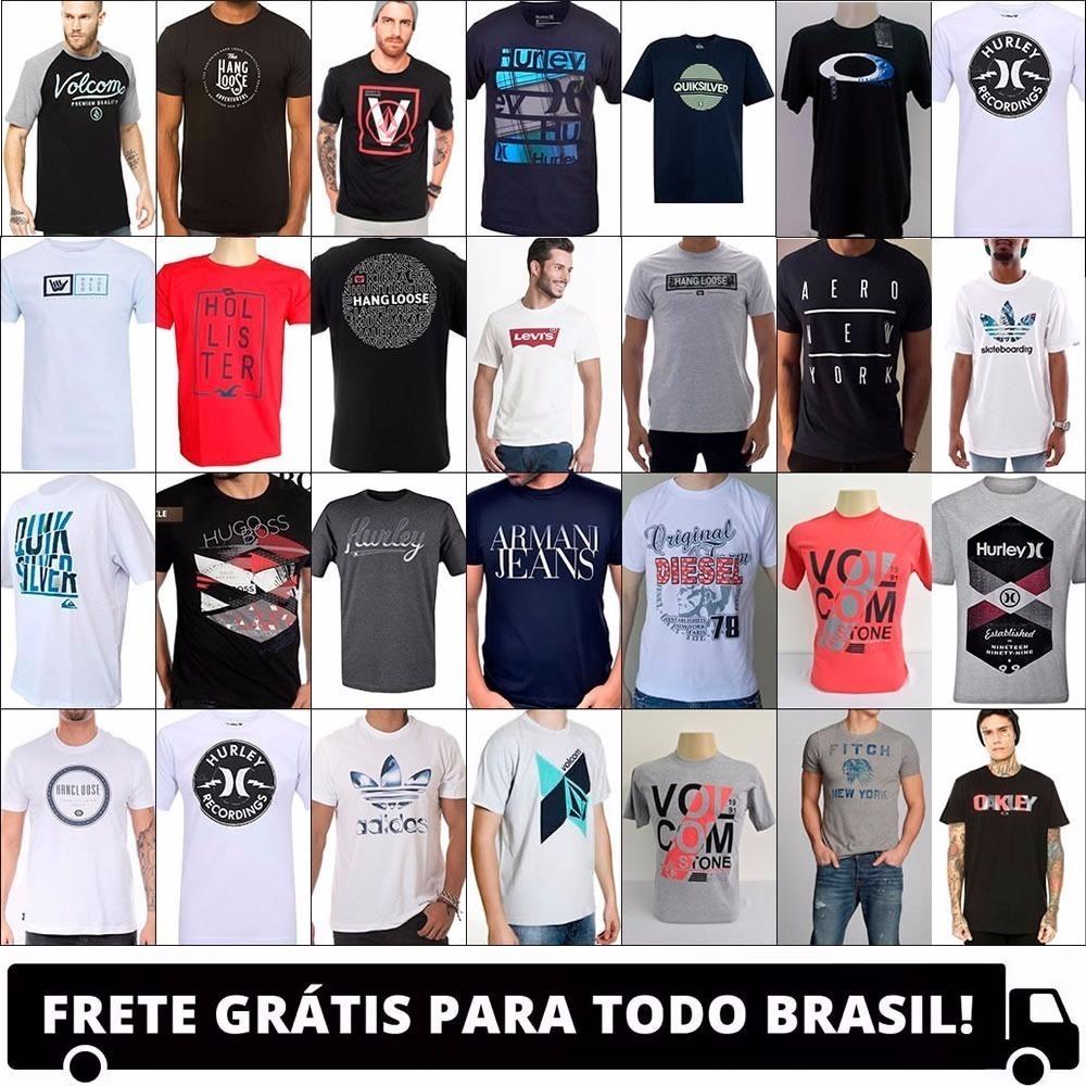 ec02901055446 kit 10 camiseta camisa blusa masculina de marca frete gratis. Carregando  zoom.
