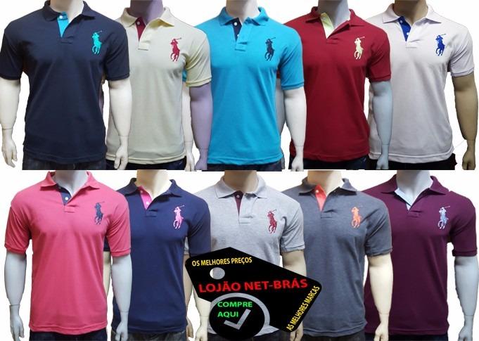 Kit 10 Camiseta Camisa Gola Polo Masculina Revenda Atacado - R  199 ... b7c764fea4a6d