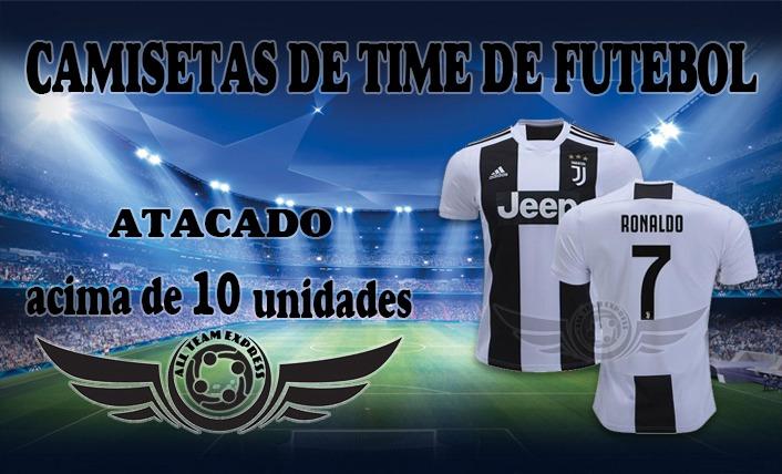 58f11a0c58861 Kit 10 Camiseta De Time Brasileiro E Eurpoeus - R  189