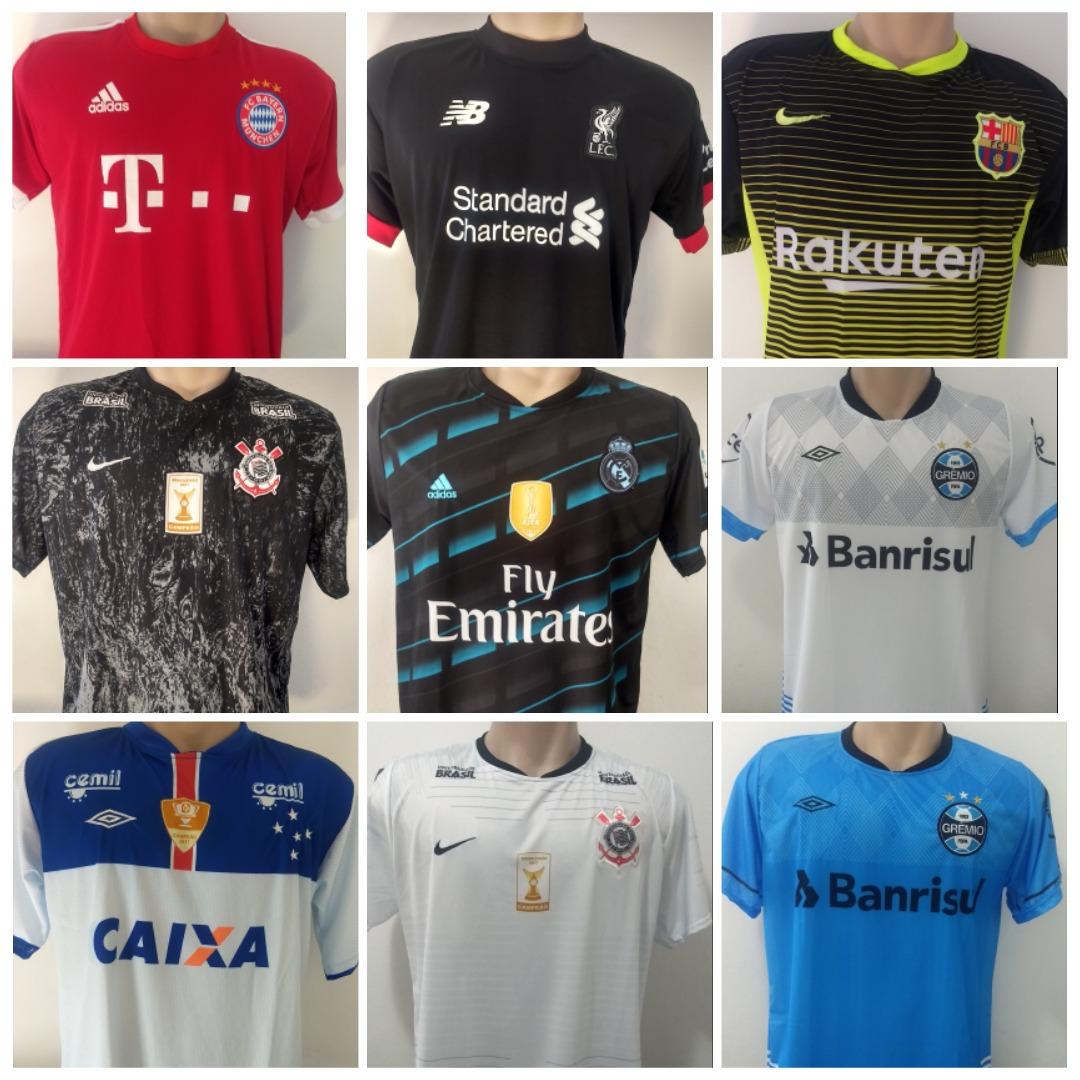 Kit 10 Camiseta De Time Brasileiro Europeus 2018 Atacado - R  189 f023a417f8c55