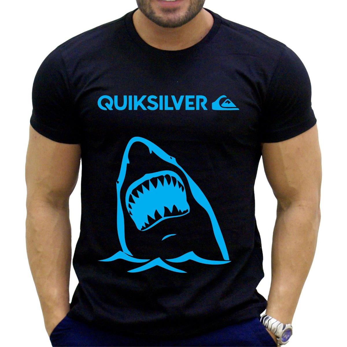 kit 10 camiseta quiksilver lançamento surf tubarão branco. Carregando zoom. 3df3bf17c0