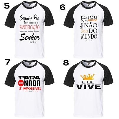 40f6ed5a0 Kit 10 Camiseta Raglan Evangelicas Preço De Revenda Atacado - R  189 ...