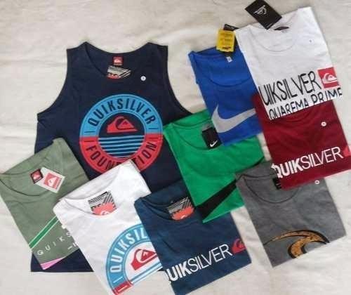 a330af18c4fe7 Kit 10 Camiseta Regata Infantil Varias Marcas Top Atacado - R  169 ...