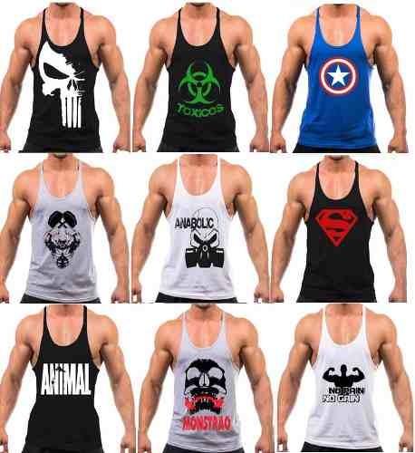 22e5aef39 Kit 10 Camiseta Regata Masculina Academia Fitness Atacado - R ...