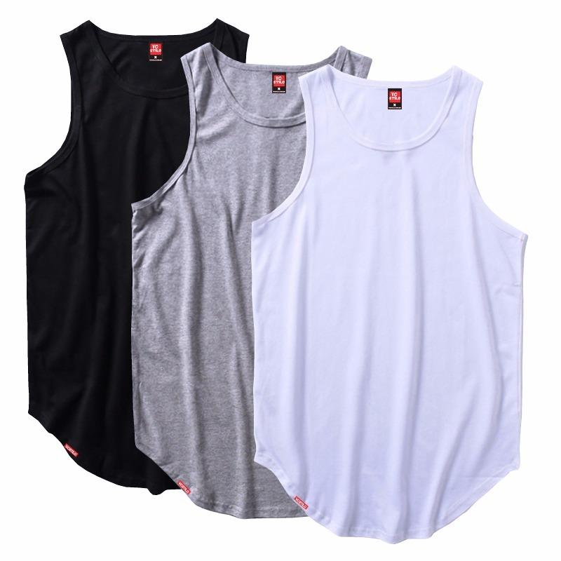 d2377f2564e2e kit 10 camiseta regata masculina longline oversized atacado. Carregando  zoom.