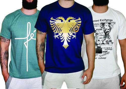 kit 10 camisetas camisa blusa masculina  multimarcas atacado