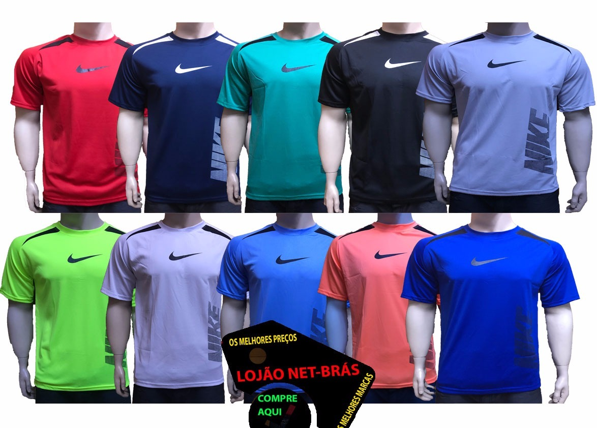 51d688ff2 Kit 10 Camisetas Camisa Dry Fit Academia Trein Revenda Lucre - R ...