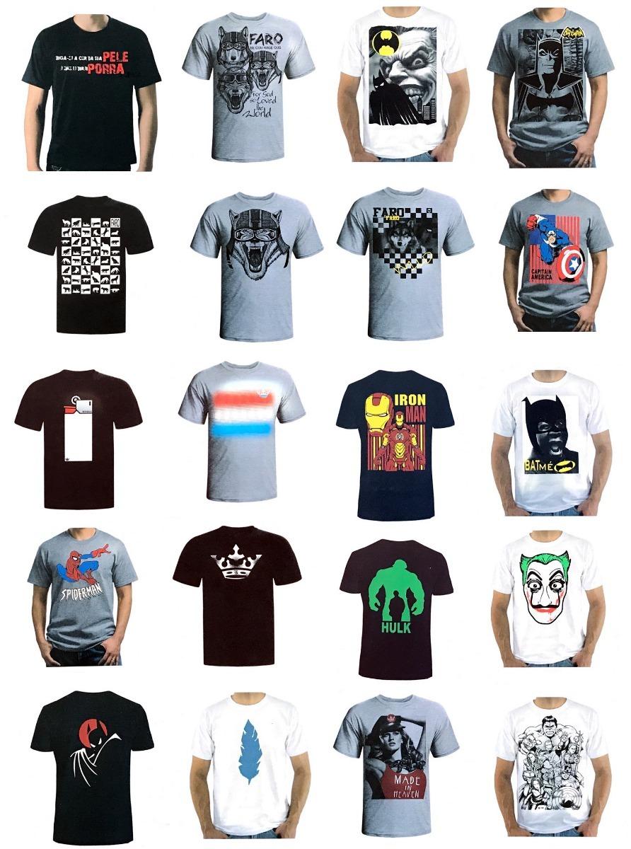 Kit 10 Camisetas Camisa Masculina Pre Lavada Atacado Revenda - R ... 1153d23161