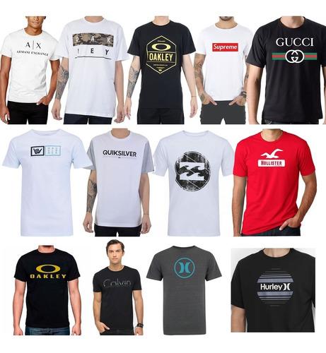 kit 10 camisetas camisas blusas masculinas marca famosas top