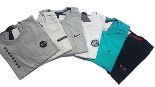 kit 10 camisetas camisas masculina marcas famosas atacado