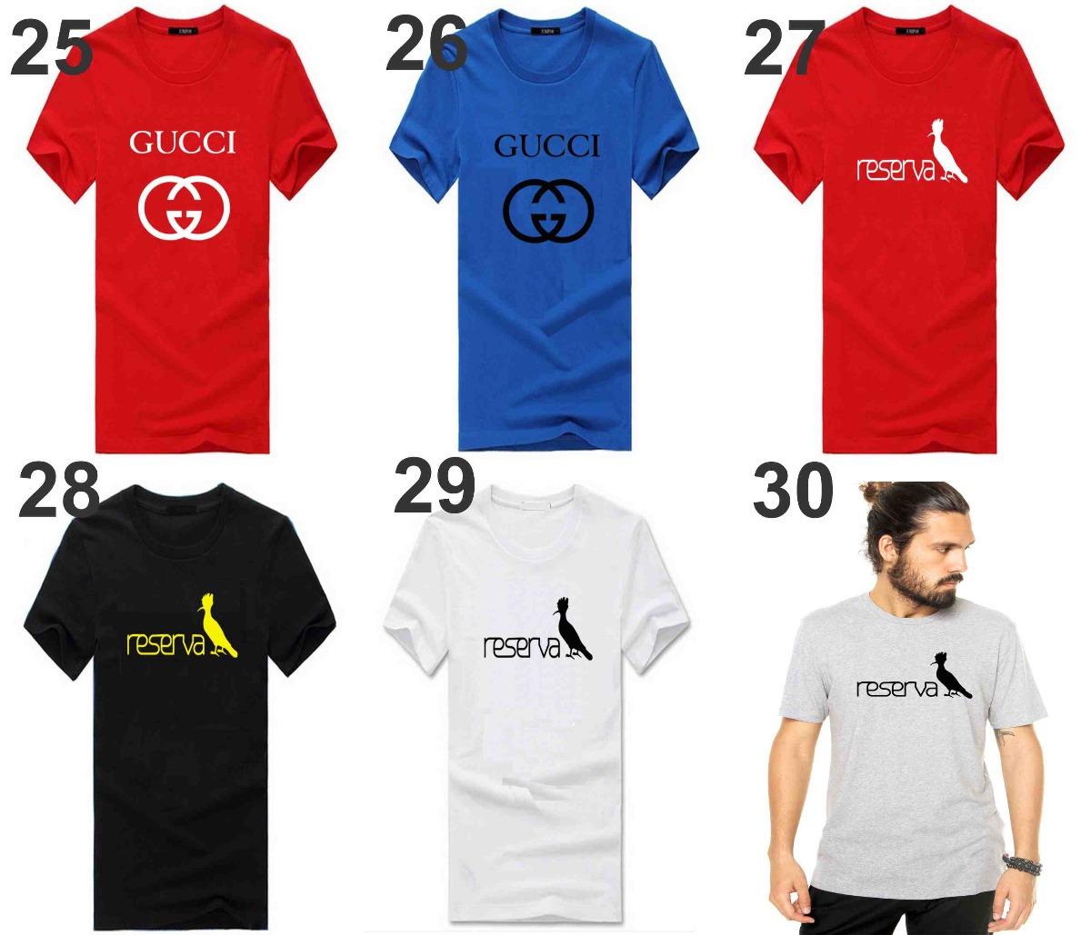 a795278dee Kit 10 Camisetas Camisas Masculinas Baratas Marcas Famosas - R  240 ...