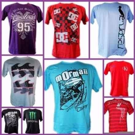 f7d4ee8ef Kit 10 Camisetas Camisas Masculinas Oferta Atacado Revenda - R  135 ...