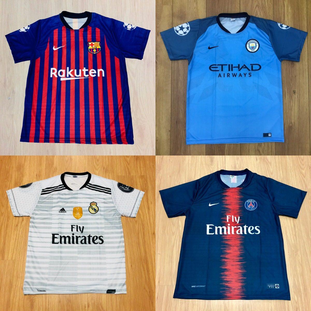 Kit 10 Camisetas De Time Atacado Futebol 100 Modelos 2018 - R  195 ... 2ecbe6c77f949
