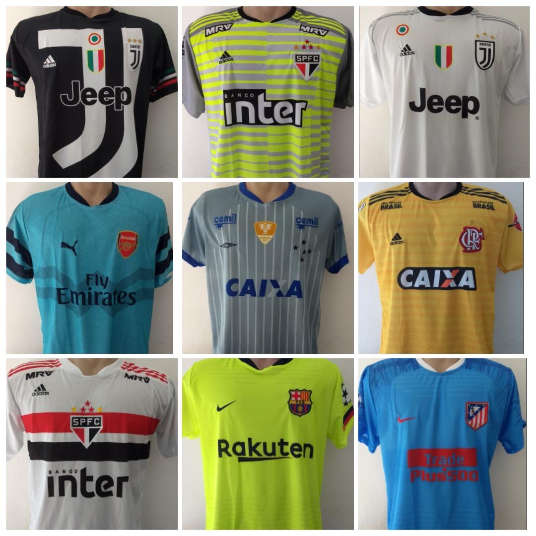3403797376 Kit 10 Camisetas De Time De Futebol Modelo 2018 - R$ 18,50 em ...