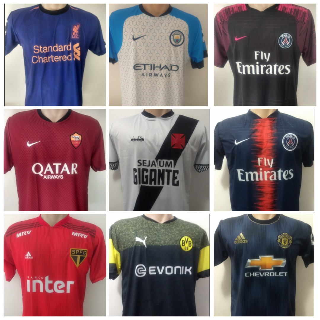 55142d3875 kit 10 camisetas de time futebol com frete grátis. Carregando zoom.