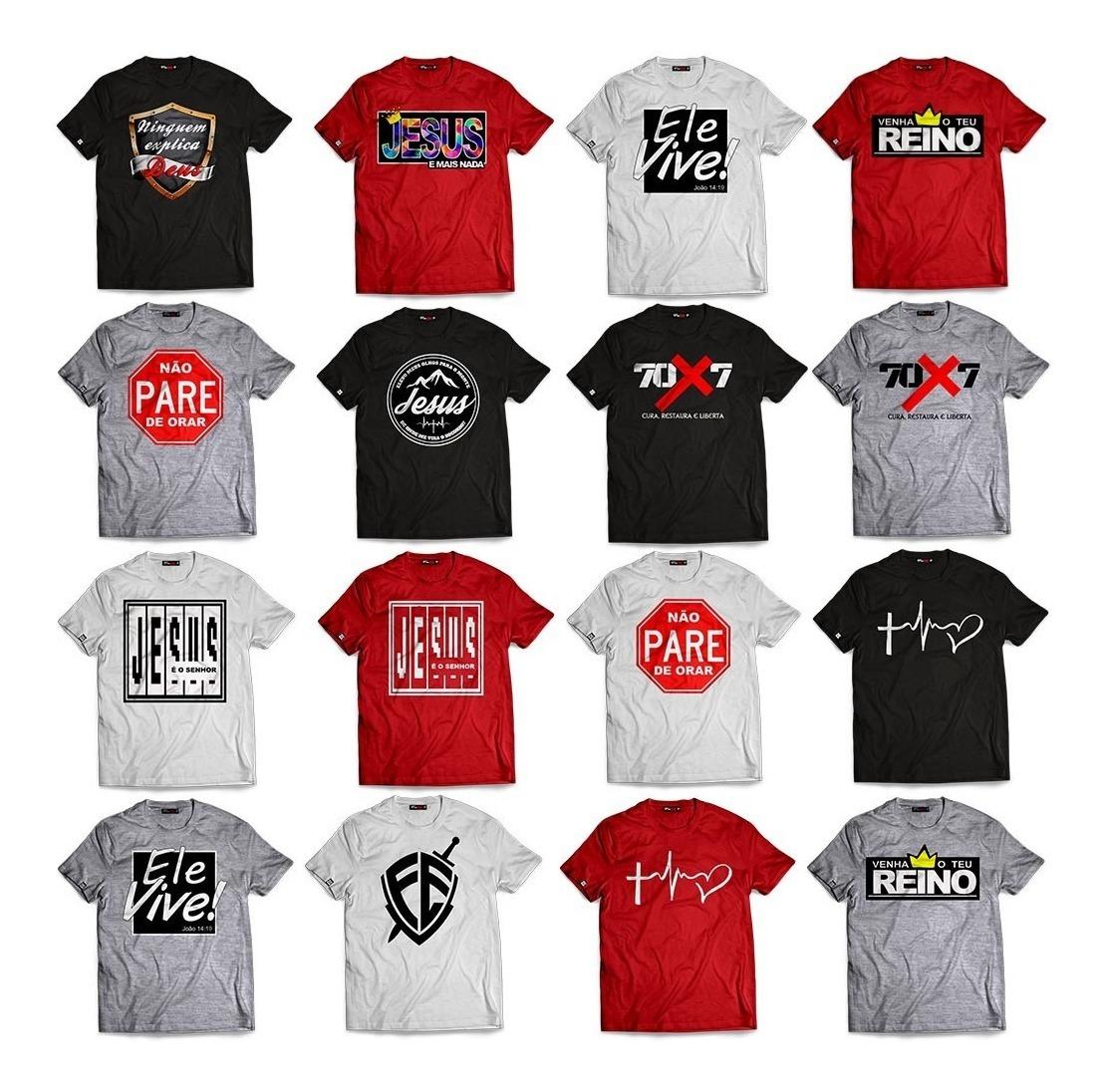 e8c4a423d9202 kit 10 camisetas evangélicas gospel blusas manga curta. Carregando zoom.