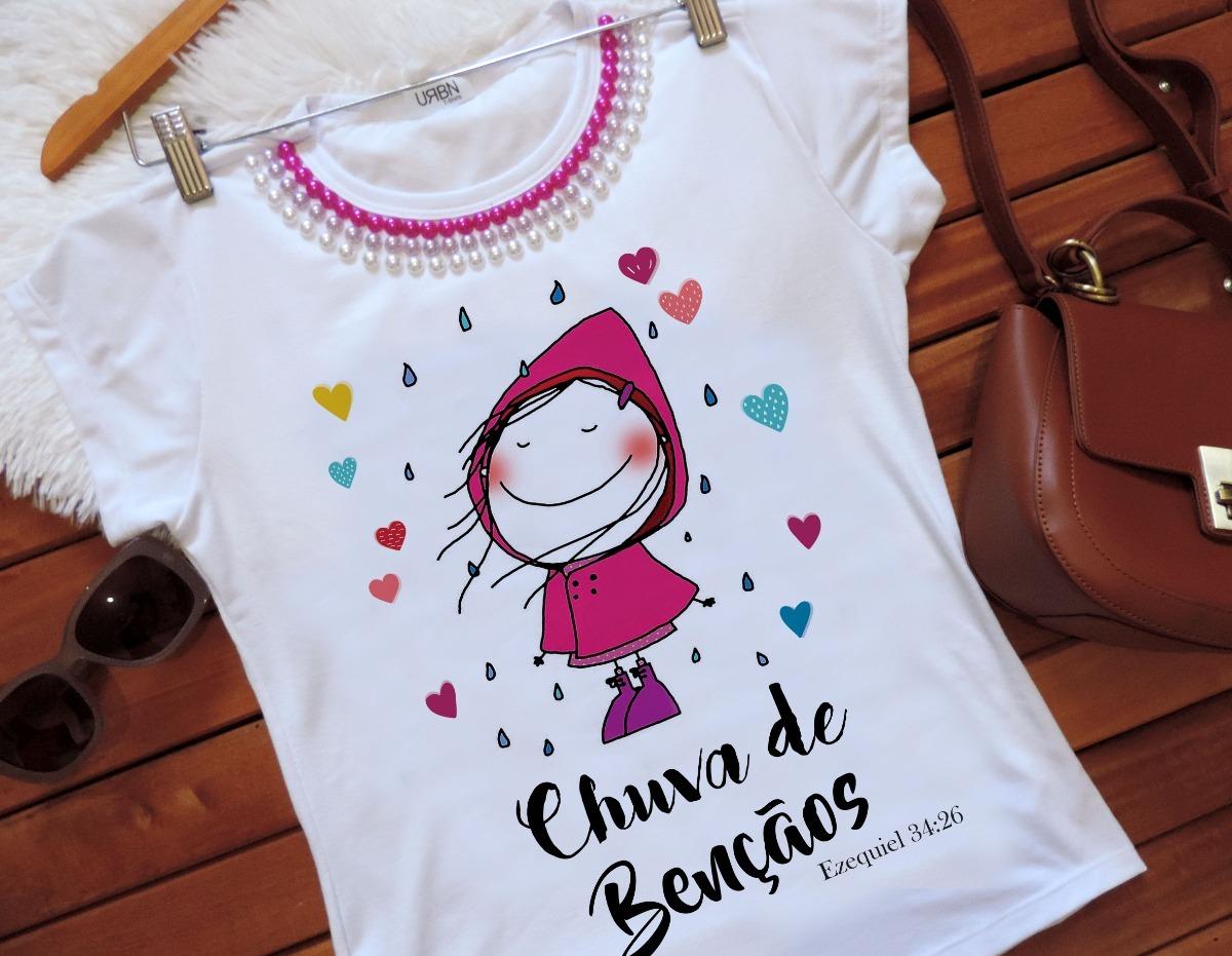 12dd63bec Kit 10 Camisetas Femininas T-shirts Gospel Evangélica - R$ 270,00 em ...