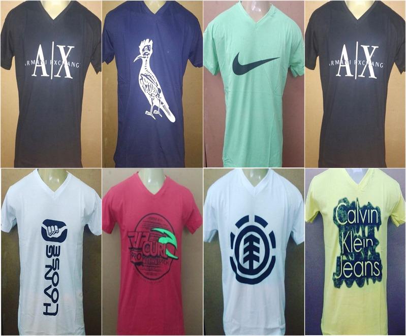 9674be943c Kit 10 Camisetas Gola V Estampadas Frete Gratis Revenda - R  130