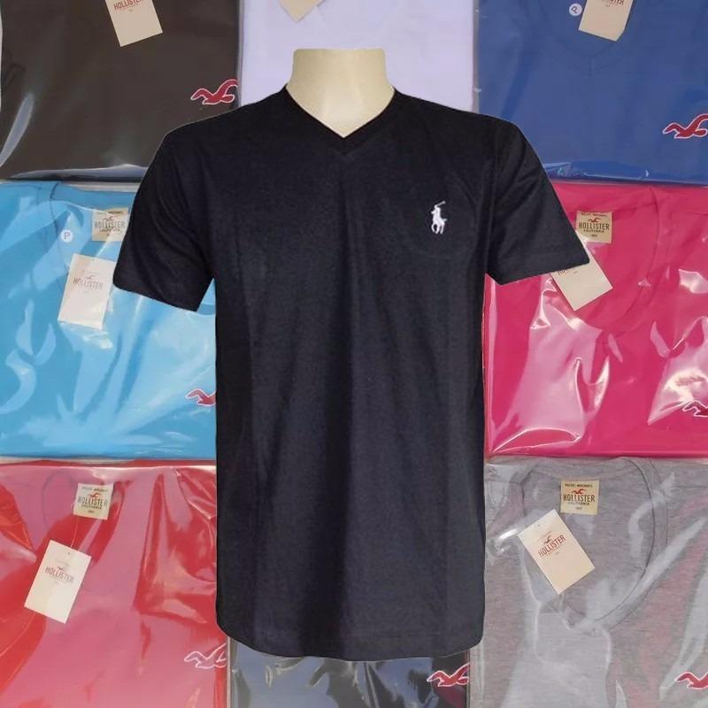 kit 10 camisetas gola v masculina várias marcas top atacado. Carregando  zoom. b6dfc6bc9be09
