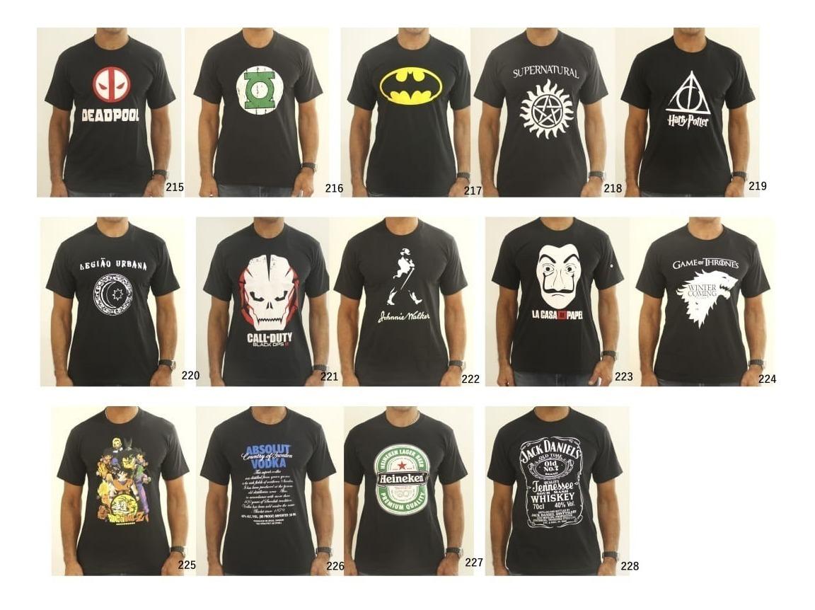 69272074da6d0 Kit 10 Camisetas Masculina. Escolha As Estampas - R$ 139,90 em ...