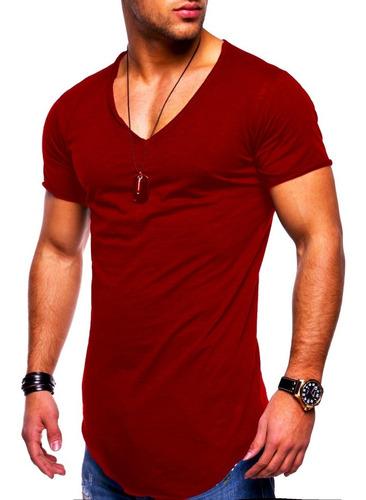 kit 10 camisetas masculina long line oversized lycra atacado