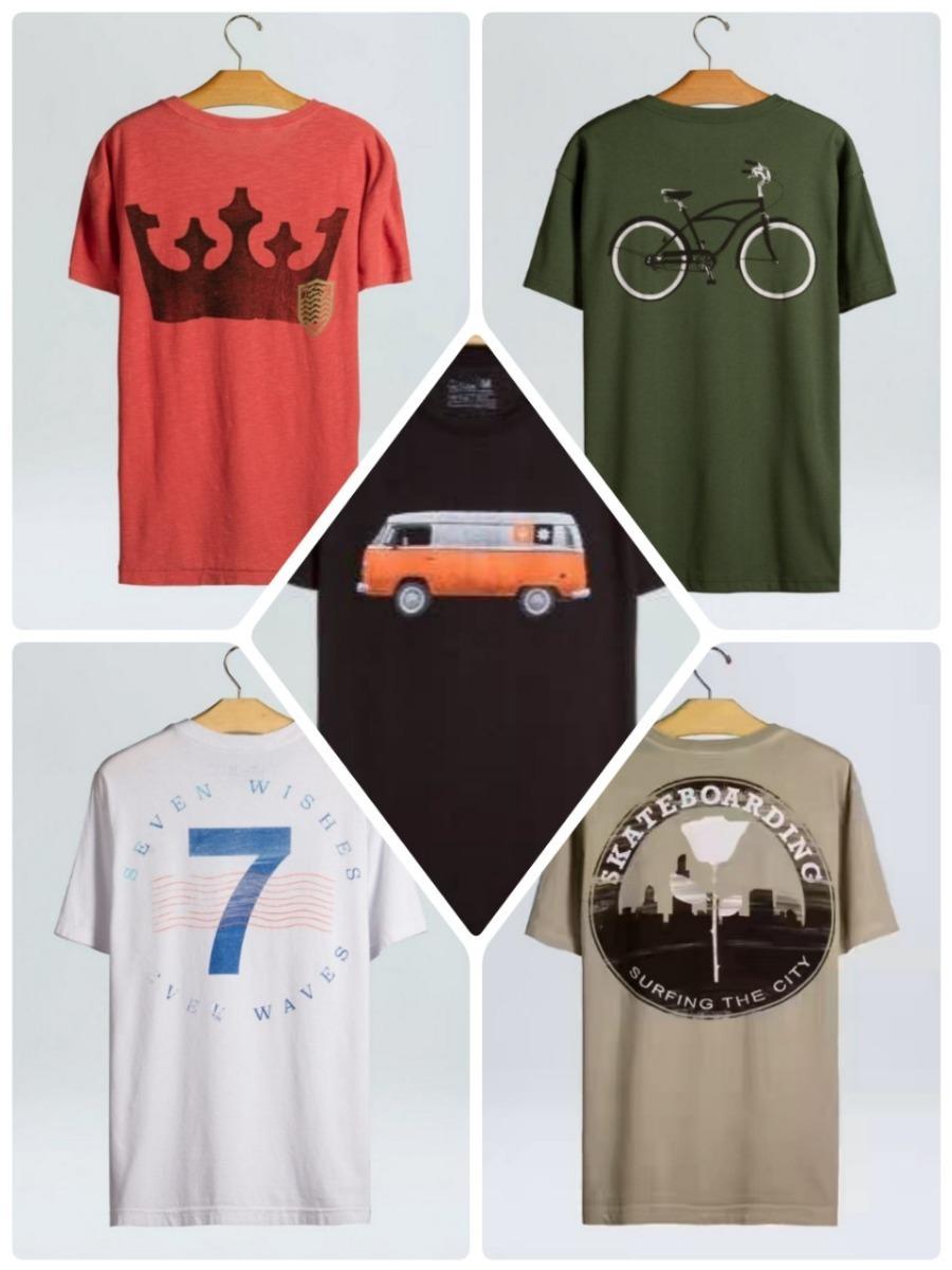 Kit 10 Camisetas Masculina M c Pre Lavada Algodao Atacado - R  189 ... 63df7667659d5