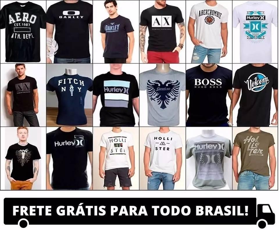a375af7606da0 kit 10 camisetas masculinas atacado revenda marcas famosas. Carregando zoom.