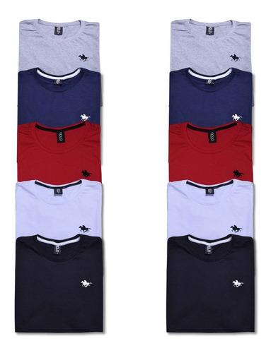 kit  10 camisetas masculinas blusa camisa slim lisa basic