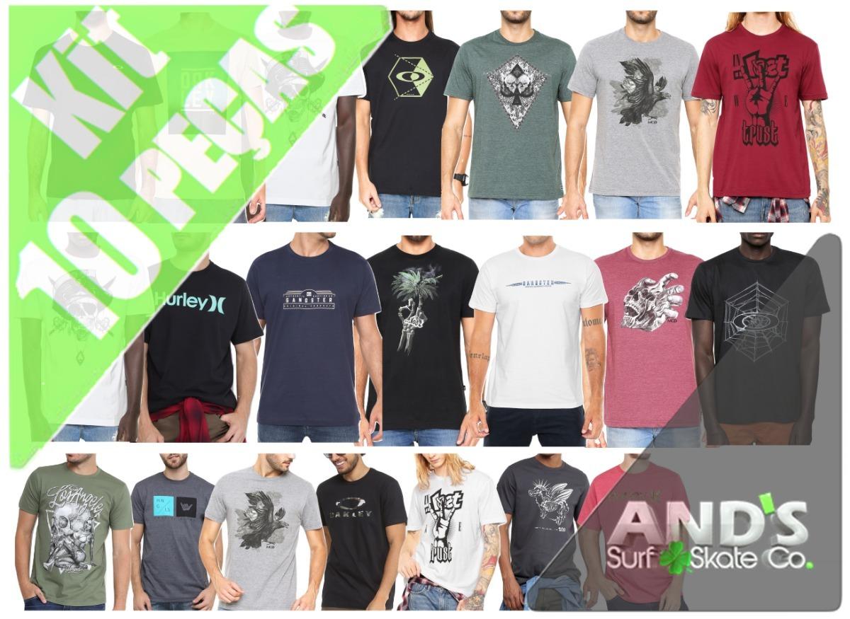 1f630975771a9 Kit 10 Camisetas Oakley Mcd Lost Atacado Revenda - Ands