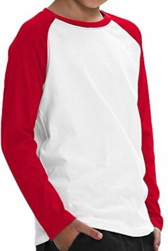 242309caac Kit 10 Camisetas Raglan Infantil P  Sublimação Manga Longa - R  99 ...