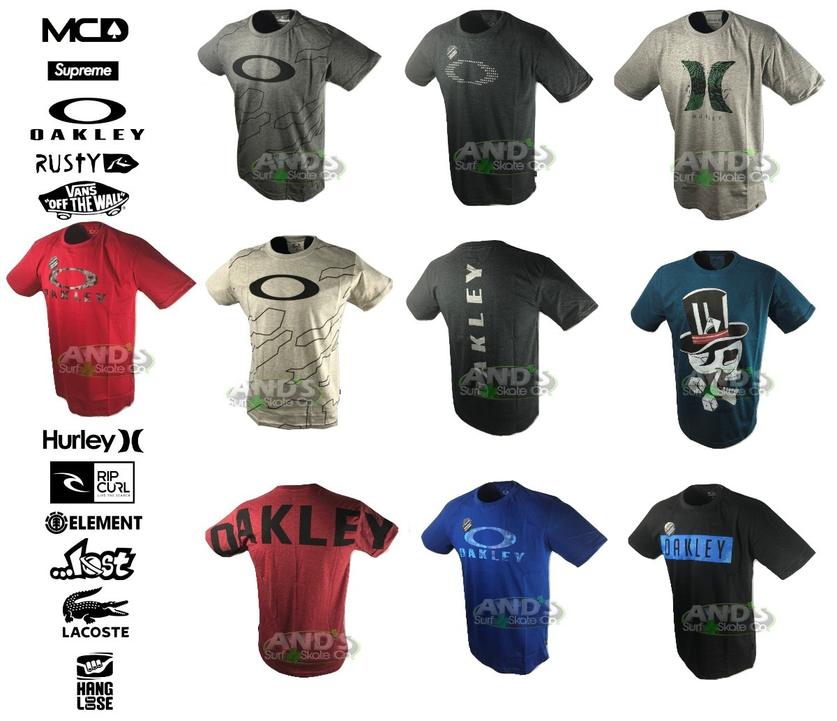 3e24610e6e kit 10 camisetas regatas oakley mcd oakley lost hurley. Carregando zoom.