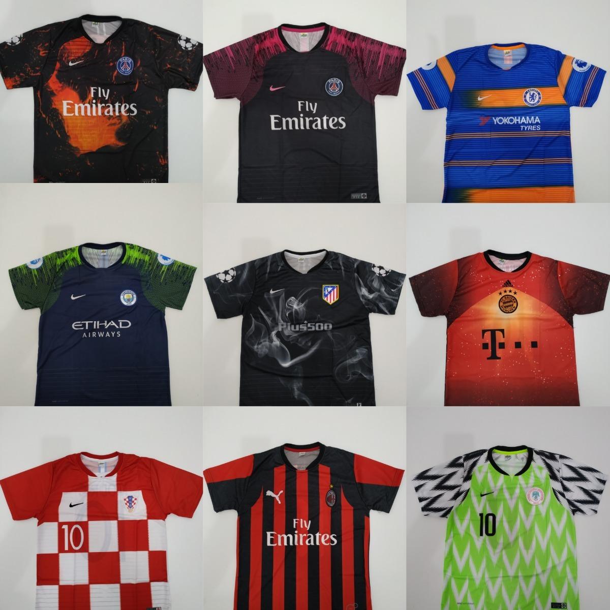Kit 10 Camisetas Time De Futebol - Nacionais   Europeus - R  189 88451d8922341