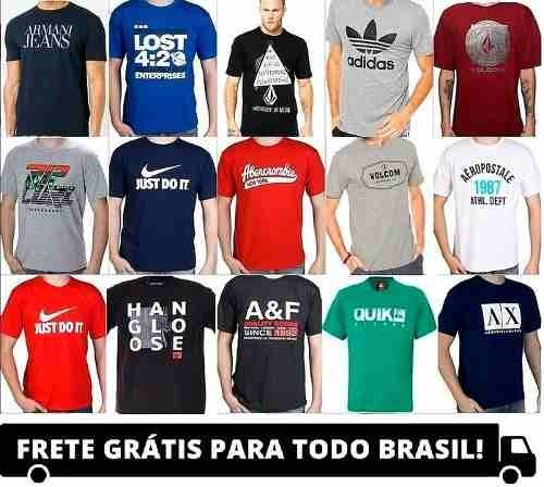 ... Kit 10 Camisetas Varias Marcas Atacado Revenda Barato Oferta - R ...  c1744bfb571faf ... 80d8be542fd