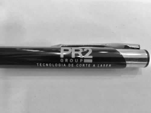 kit 10 canetas e 10 espelhos de bolso gravados à laser