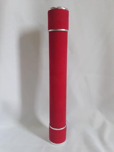 kit 10 canudo de formatura graduação vermelho com prata