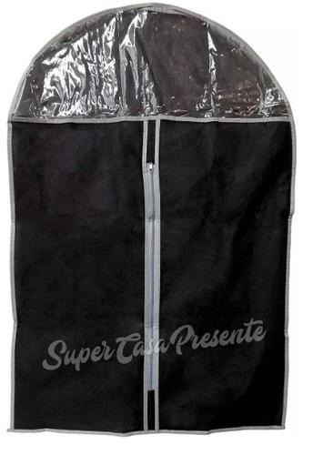 kit 10 capa protetora em tnt p/ terno roupa camisa blusa