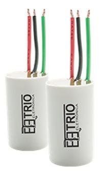 kit 10 capacitores de 3 fios 3x7uf para ventiladores de teto