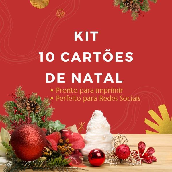 Kit 10 Cartao De Natal Baixar Imprimir Redes Sociais R 19 90