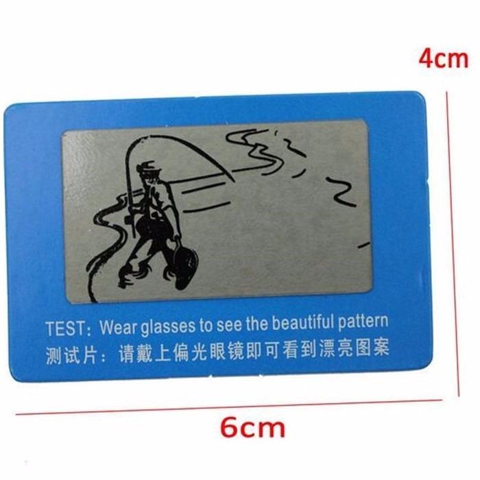 150e0ff8f0d07 Kit 10 Cartão Teste Verificar Lentes Polarizadas De Óculos - R  6