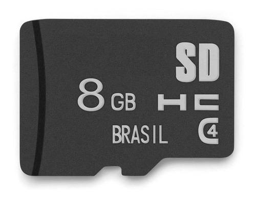 kit 10 cartões de memória micro sd 8 gb  multilaser mc 141