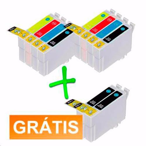 kit 10 cartuchos compatível epson impressora stylus tx133