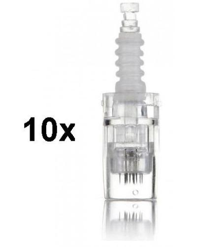 kit 10 cartuchos dermapen c/ 12 ou 36 agulhas anvisa